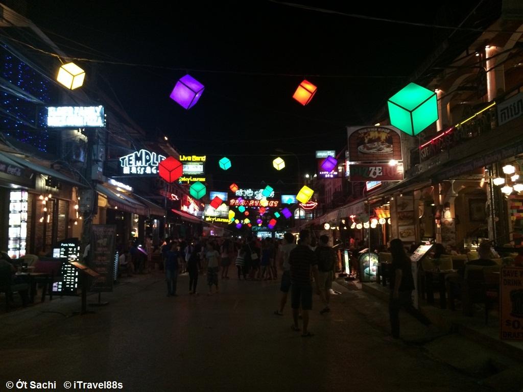 chợ đêm, phố tây ở Xiêm Riệp