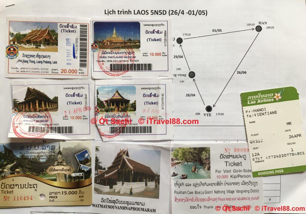Tổng hợp giá vé 20 địa điểm tham quan tại Lào