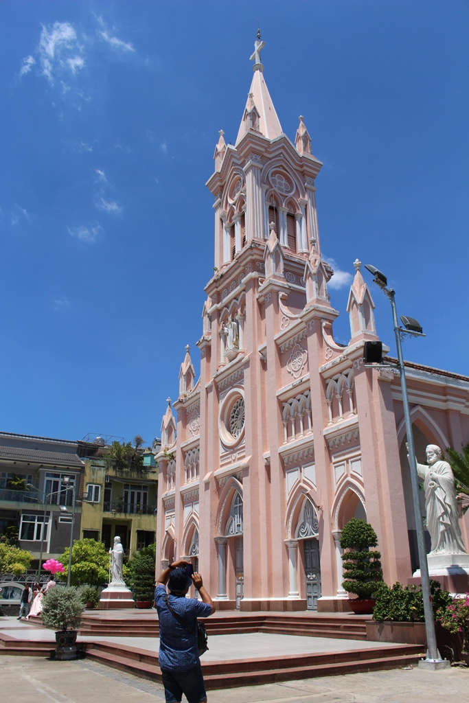In front of Da Nang Cathedral - Top 10 attractions in Da Nang