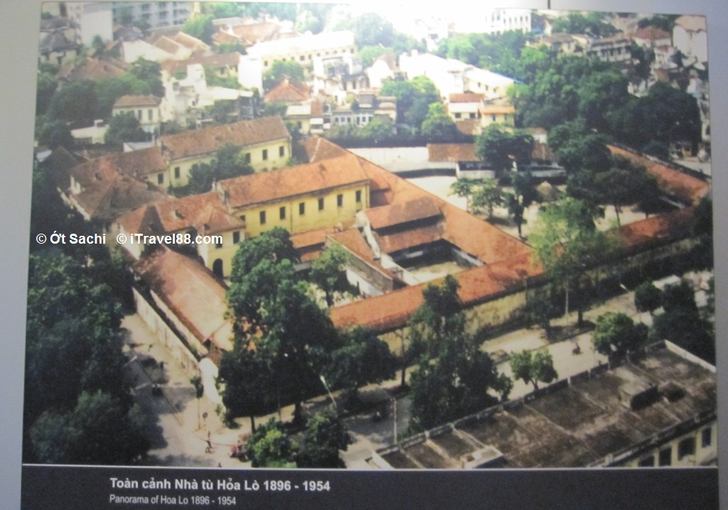 Overview of Hoa Lo prison before being demolished