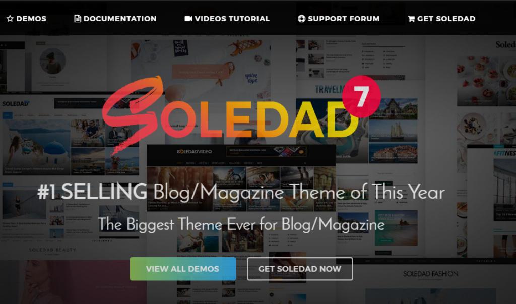 Soledad, theme đẹp được rất nhiều người sử dụng - hướng dẫn chi tiết cách tạo blog kiếm tiền