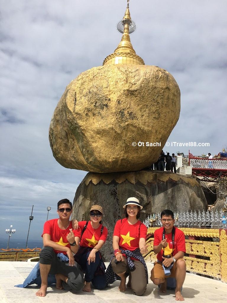 """khám phá vẻ đẹp chùa vàng Kyaikhtiyo golden rock cùng """"Hội bậu xậu"""""""