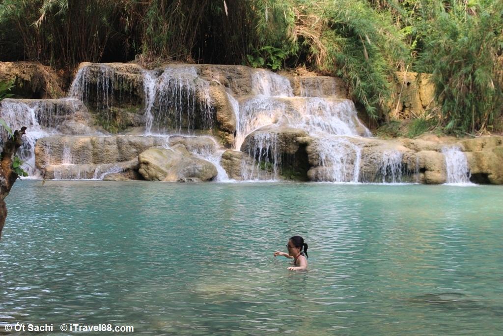 tắm ở thác Kuangsi - 7 trải nghiệm tuyệt vời nhất ở Luang Prabang