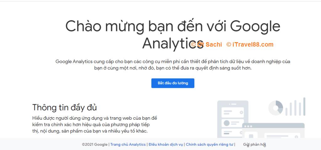Đăng nhập Google analytics bằng Gmail