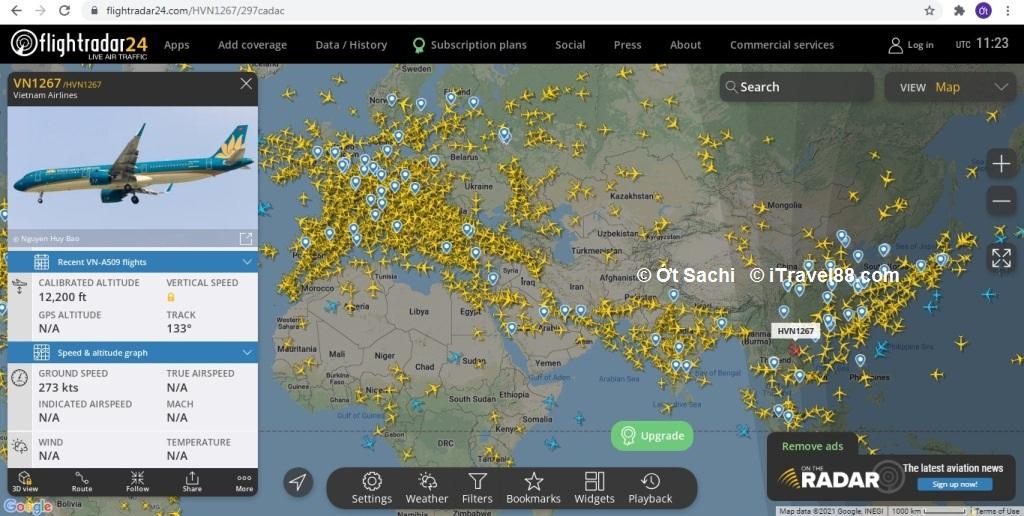Flightradar24 mang cả bầu trời đến cho bạn